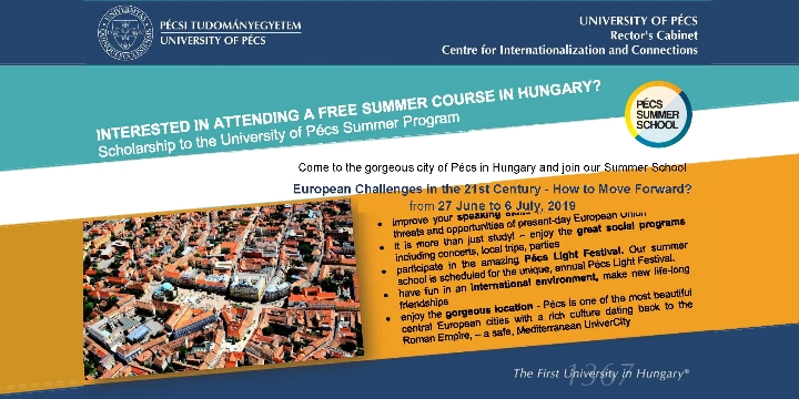 Summer School: European Challenges in the 21st Century – How to Move Forward?