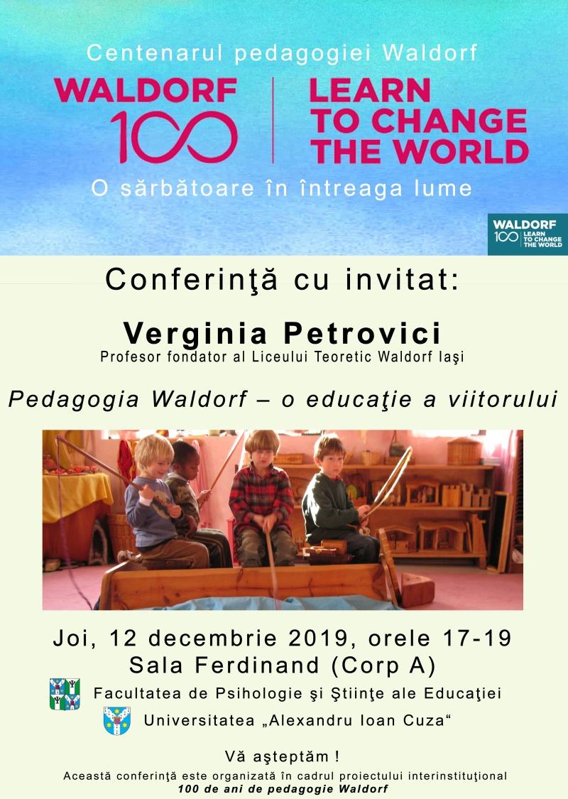 Conferinţă – Pedagogia Waldorf – o educaţie a viitorului